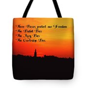 The Three Boxes Tote Bag