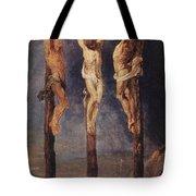 The Three Crosses Tote Bag