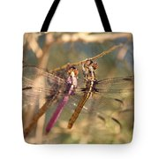 The Three Dragonflies  Tote Bag