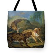The Three Leopards Tote Bag