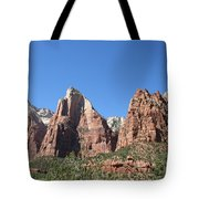 The Three Patriarchs - Zion Park Np Tote Bag