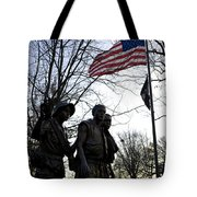 The Three Soldiers - Vietnam War Memorial Tote Bag