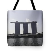 The Three Towers Of The Marina Bay Sands In Singapore Tote Bag