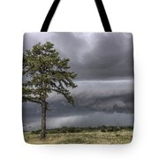 The Thunder Rolls - Storm - Pine Tree Tote Bag by Jason Politte