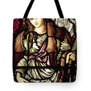 The Tibertine Sibyl In Stained Glass Tote Bag