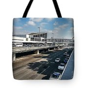 The Tilted Exhaustion Tote Bag