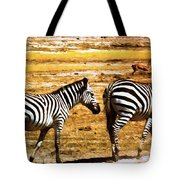 The Tired Zebras Tote Bag