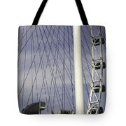 The Top Section Of The Marina Bay Sands As Seen Through The Spokes Of The Singapore Flyer Tote Bag