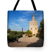 The Torre Del Oro, Gold Tower, Military Tote Bag