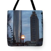 The Tower And The Plaza Tote Bag