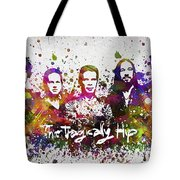 The Tragically Hip In Color Tote Bag