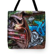 The Train And The Tree Tote Bag