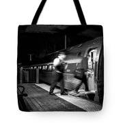 The Train Conductor Tote Bag by Bob Orsillo
