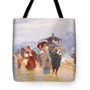The Train Has Arrived, 1894 Tote Bag