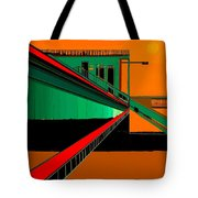 The Train Station  Number 9 Tote Bag