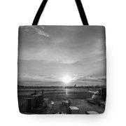 The Traveler Bw Tote Bag