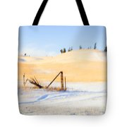 The Trees On The Hill Tote Bag