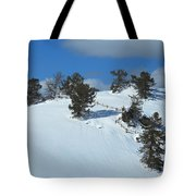 The Trees Take A Snow Day Tote Bag