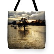 The Trent Washlands In Full Flood Tote Bag