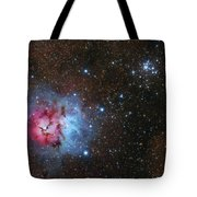 The Trifid Nebula And Messier 21 Tote Bag
