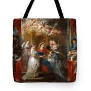 The Triptych Of Saint Ildefonso Altar Tote Bag