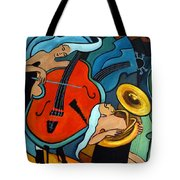 The Tuba Player Tote Bag