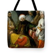 The Turkish Ambassador And His Entourage At The Court Of Naples Tote Bag