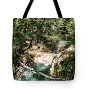 The Turquoise Waters Of The Forest River No2 Tote Bag