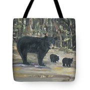 Cubs - Bears - Goldilocks And The Three Bears Tote Bag