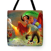 The Two Beasts Of Revelations Tote Bag