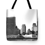 The Un And Chrysler Buildings Tote Bag