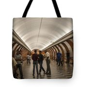 The Underground 1 - Victory Park Metro - Moscow Tote Bag
