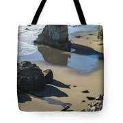 The Unexplored Beach Tote Bag