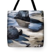 The Unexplored Beach Painted Tote Bag