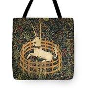 The Unicorn In Captivity Tote Bag