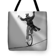 The Unicyclist  Tote Bag