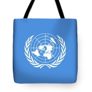The United Nations Flag  Authentic Version Tote Bag