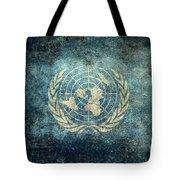 The United Nations Flag  Vintage Version Tote Bag