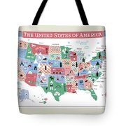 The United States Of America Map Tote Bag