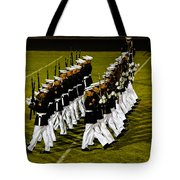 The United States Marine Corps Silent Drill Platoon Tote Bag by Robert Bales