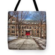 The University Of Wisconsin Education Building Tote Bag
