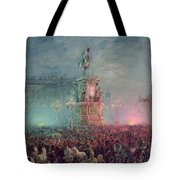 The Unveiling Of The Nicholas I Memorial In St. Petersburg Tote Bag by Vasili Semenovich Sadovnikov