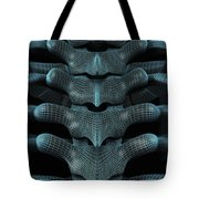 The Upper Spine Wireframe Tote Bag