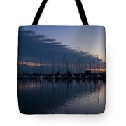 The Urge To Sail Away - Violet Sky Reflecting In Lake Ontario In Toronto Canada Tote Bag