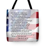 The U.s.a. Flag Poetry Art Poster Tote Bag by Stanley Mathis
