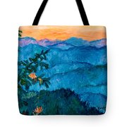 The Very Blue Ridge Tote Bag