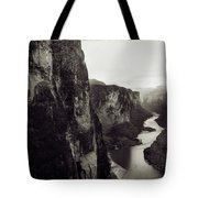 The View Downstream From The Eminence Tote Bag