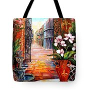 The View From A Courtyard Tote Bag