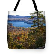 The View From Bald Mountain - Old Forge New York Tote Bag