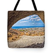 the view of Perissa Tote Bag